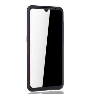 Husa Full Cover 360 + folie sticla pentru Xiaomi Mi 9, Negru3