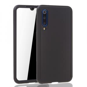 Husa Full Cover 360 + folie sticla pentru Xiaomi Mi 9 SE, Negru2