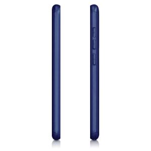 Husa Full Cover 360 + folie sticla pentru Xiaomi Pocophone F1, Albastru2