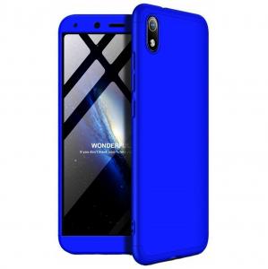 Husa Full Cover 360 + folie sticla pentru Xiaomi Redmi 7A, Albastru0