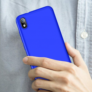 Husa Full Cover 360 + folie sticla pentru Xiaomi Redmi 7A, Albastru1