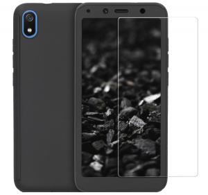 Husa Full Cover 360 + folie sticla pentru Xiaomi Redmi 7A, Negru [0]