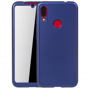 Husa Full Cover 360 + folie sticla pentru Xiaomi Redmi Note 7, Albastru0