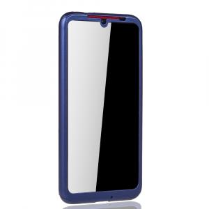 Husa Full Cover 360 + folie sticla pentru Xiaomi Redmi Note 7, Albastru3