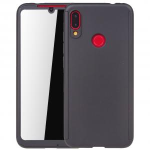 Husa Full Cover 360 + folie sticla pentru Xiaomi Redmi Note 7, Negru0