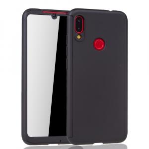 Husa Full Cover 360 + folie sticla pentru Xiaomi Redmi Note 7, Negru1