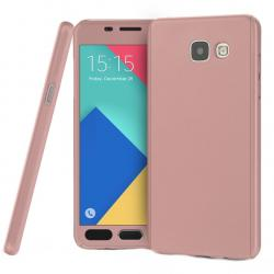 Husa Full Cover 360 + folie sticla Samsung Galaxy A5 (2016), Rose Gold0
