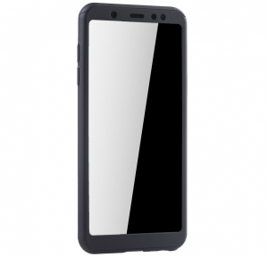 Husa Full Cover 360 + folie sticla Samsung Galaxy A6+ (2018), Negru [2]