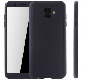 Husa Full Cover 360 + folie sticla Samsung Galaxy A6 (2018), Negru [1]