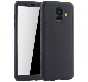 Husa Full Cover 360 + folie sticla Samsung Galaxy A6 (2018), Negru [0]