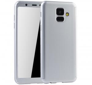 Husa Full Cover 360 + folie sticla Samsung Galaxy A6 (2018), Silver0