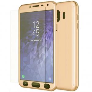 Husa Full Cover 360 + folie sticla Samsung Galaxy J4 (2018), Gold [0]