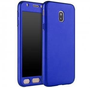 Husa Full Cover 360 + folie sticla Samsung Galaxy J5 (2017), Albastru0