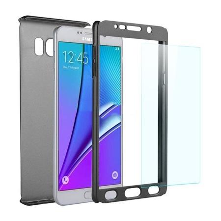 Husa Full Cover 360 + folie sticla Samsung Galaxy Note 5, Negru [1]
