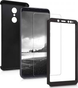 Husa Full Cover 360 + folie sticla Xiaomi Redmi 5, Negru [2]