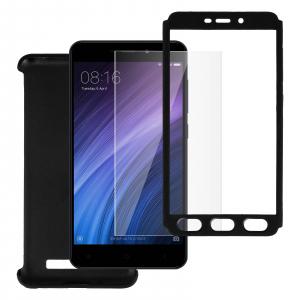 Husa Full Cover 360 + folie sticla Xiaomi Redmi 5A, Negru2