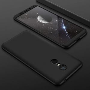 Husa Full Cover 360 + folie sticla Xiaomi Redmi 5 Plus, Negru1