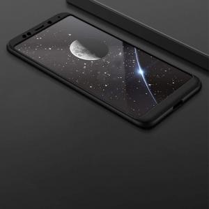 Husa Full Cover 360 + folie sticla Xiaomi Redmi 5 Plus, Negru2
