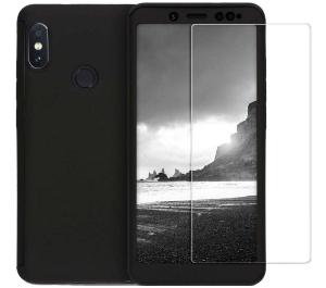 Husa Full Cover 360 + folie sticla Xiaomi Redmi Note 5 Pro, Negru [0]