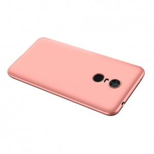 Husa Full Cover 360 + folie sticla Xiaomi Redmi 5 Plus, Rose Gold [1]
