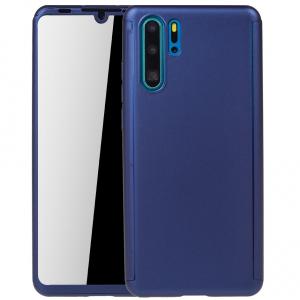 Husa Full Cover 360 pentru Huawei P30 Pro, Albastru0