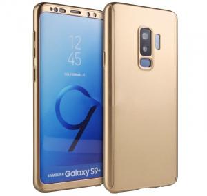 Husa Full Cover 360 pentru Samsung Galaxy S9 Plus, Gold0