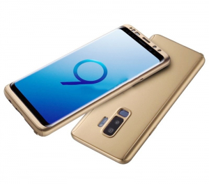 Husa Full Cover 360 pentru Samsung Galaxy S9 Plus, Gold1