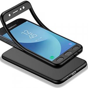 Husa Full Silicone 360 pentru Samsung Galaxy J3 (2016), Negru2