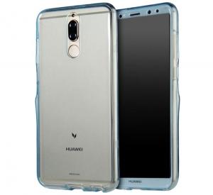 Husa Full TPU 360 fata spate Huawei Mate 10 Lite, Albastru Transparent [0]
