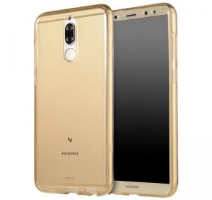 Husa Full TPU 360 fata spate Huawei Mate 10 Lite, Gold Transparent0