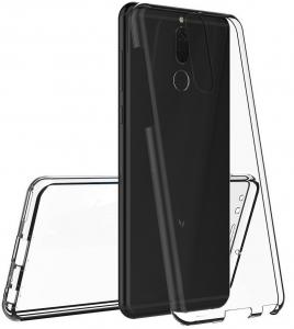 Husa Full TPU 360 fata + spate Huawei Mate 10 Lite, Gri Transparent2