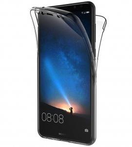 Husa Full TPU 360 fata + spate Huawei Mate 10 Lite, Gri Transparent0