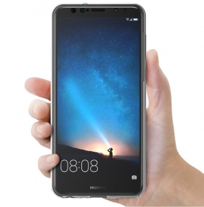 Husa Full TPU 360 fata spate Huawei Mate 10 Lite, Transparent2