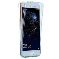 Husa Full TPU 360 (fata + spate) Huawei P10 Plus, Albastru Transparent0