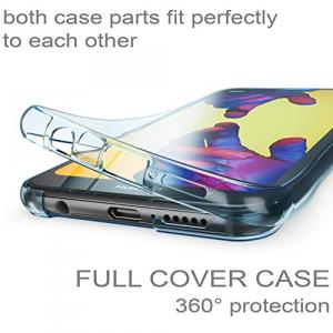 Husa Full TPU 360 fata + spate Huawei P20 Lite, Albastru transparent [1]