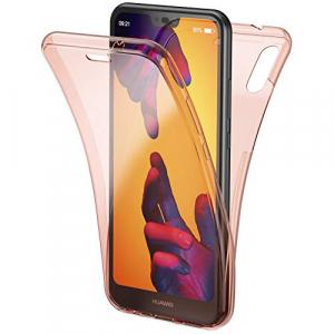 Husa Full TPU 360 fata + spate Huawei P20 Lite, Rose Gold transparent0