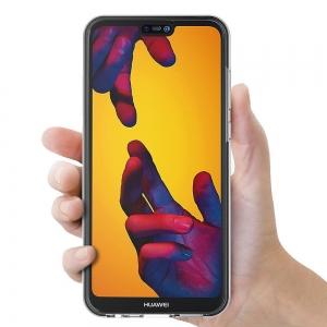 Husa Full TPU 360 fata + spate Huawei P20 Lite, Transparent [3]