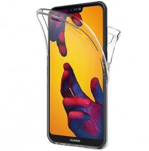 Husa Full TPU 360 fata + spate Huawei P20 Lite, Transparent [0]