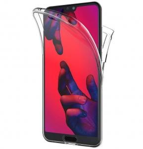 Husa Full TPU 360 fata + spate Huawei P20 Pro, Transparent1