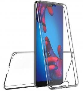 Husa Full TPU 360 fata + spate Huawei P20, Transparent3