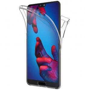 Husa Full TPU 360 fata + spate Huawei P20, Transparent0