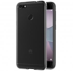 Husa Full TPU 360 fata spate Huawei P9 Lite Mini 2017, Gri transparent2