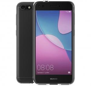 Husa Full TPU 360 fata spate Huawei P9 Lite Mini 2017, Gri transparent1