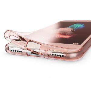 Husa Full TPU 360 fata + spate Huawei P9 Lite Mini 2017, Rose Gold transparent [1]