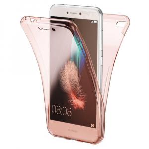 Husa Full TPU 360 fata + spate Huawei P9 Lite Mini 2017, Rose Gold transparent [0]