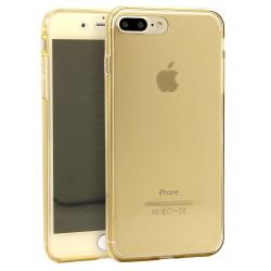 Husa Full TPU 360 (fata + spate) iPhone 8 Plus, Gold Transparent1