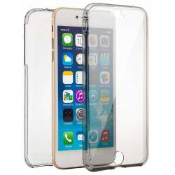 Husa Full TPU 360 (fata + spate) iPhone 8 Plus, Gri Transparent0
