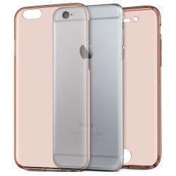 Husa Full TPU 360 (fata + spate) iPhone 8, Rose Gold Transparent0