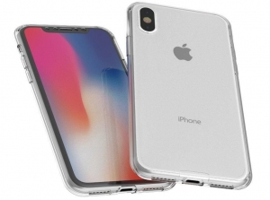 Husa Full TPU 360 fata spate iPhone X, Transparent2