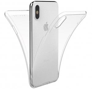 Husa Full TPU 360 fata spate iPhone X, Transparent0